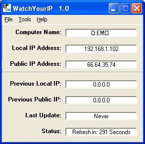 watchyourip, ip, ip monitor, ip address, email, remote access, remote